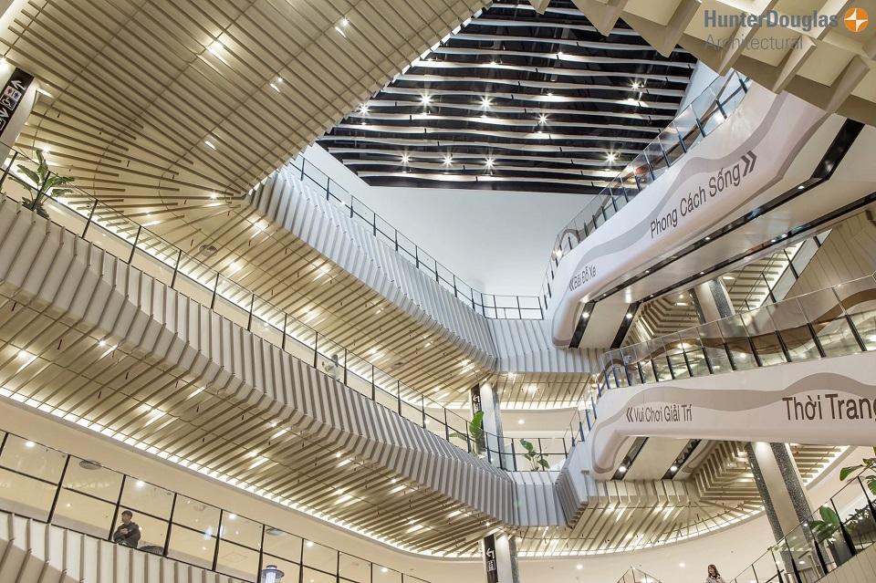 Dự án Aeon Mall Hà Đông sản phẩm trần nhôm Hunter Douglas