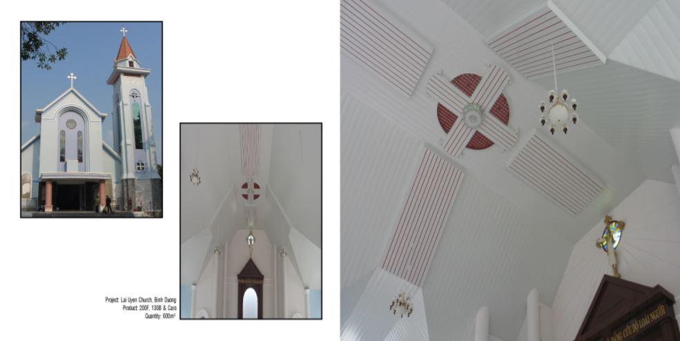 Trần nhôm nhà thờ 1