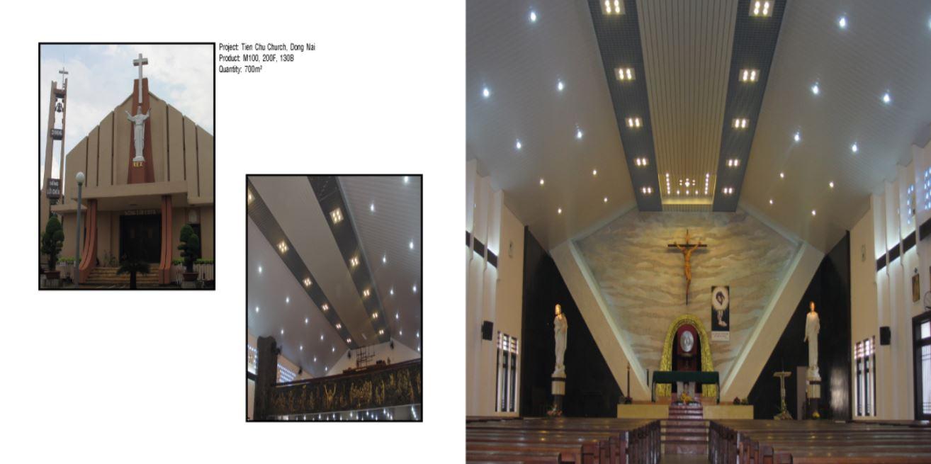 Trần nhôm nhà thờ 2