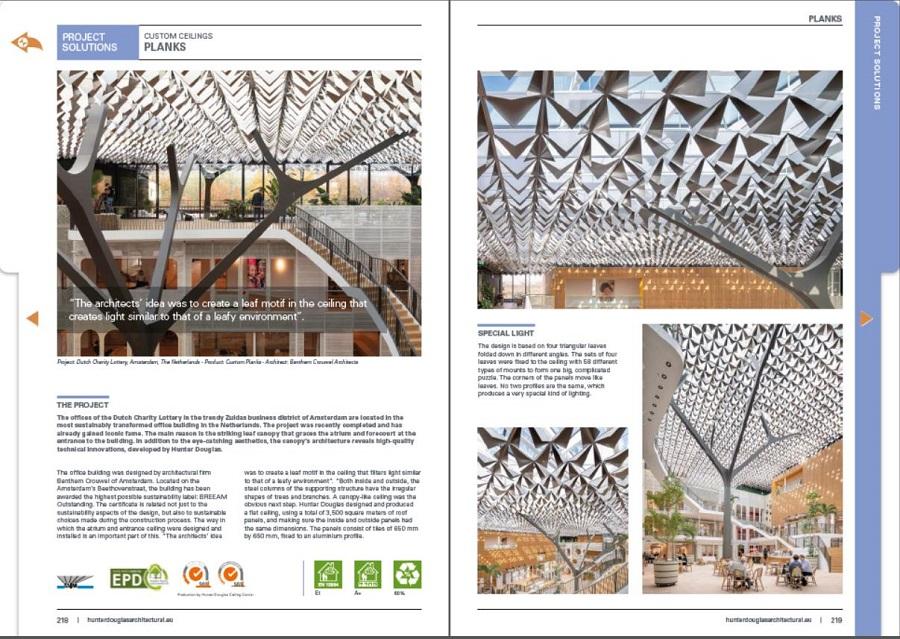 Tặng sách xu hướng thiết kế trần 2020 từ Hunter Douglas 3