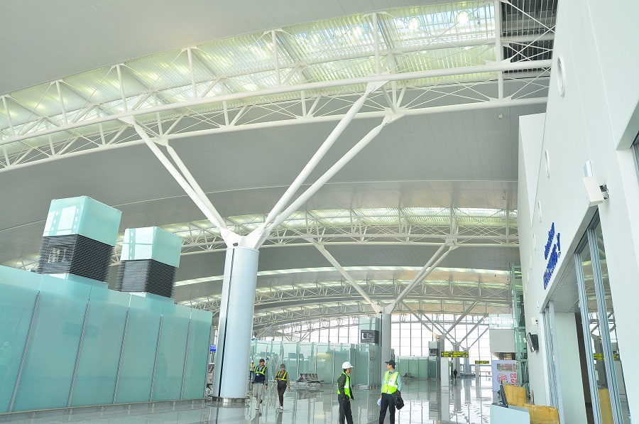 sân bay nội bài 2 -trần nhôm sân bay